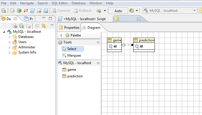 How to export er diagram from mysql see relation only for innodb databases for myisam since their different architecture relations are not available but you still can generate a diagram ccuart Choice Image
