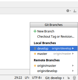 IntelliJ/PyCharm not showing all git branches