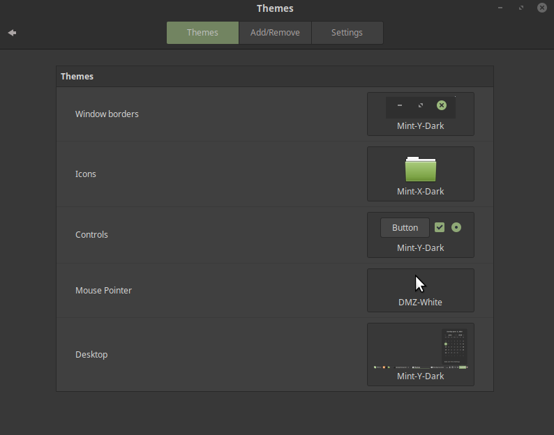 Linux Mint 19 themes