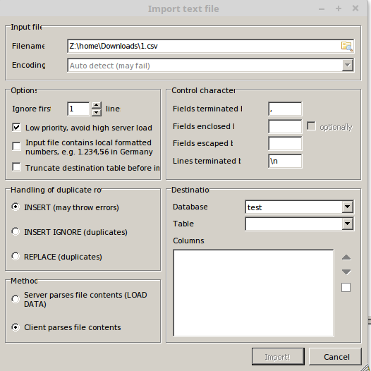 How to import CSV file into MySQL 3 examples
