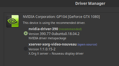 Install latest NVIDIA drivers for Linux Mint 19/Ubuntu 18 04