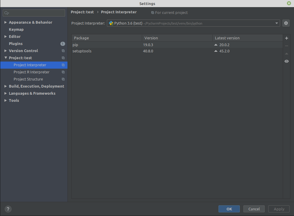 pycharm-virtualenv-modulenotfounderror-no-module-named-distutils-core