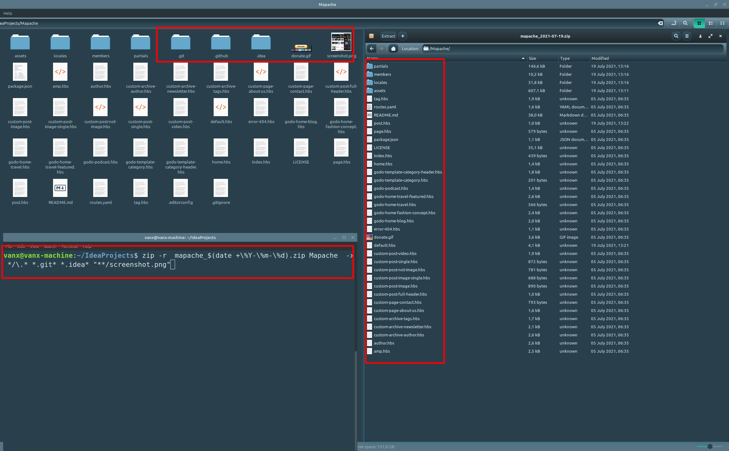 exclude-files-from-zip-archive-linux-mint