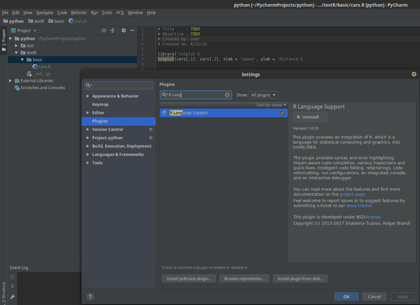 How To Install R on Linux Mint 19 and configure  PyCharm
