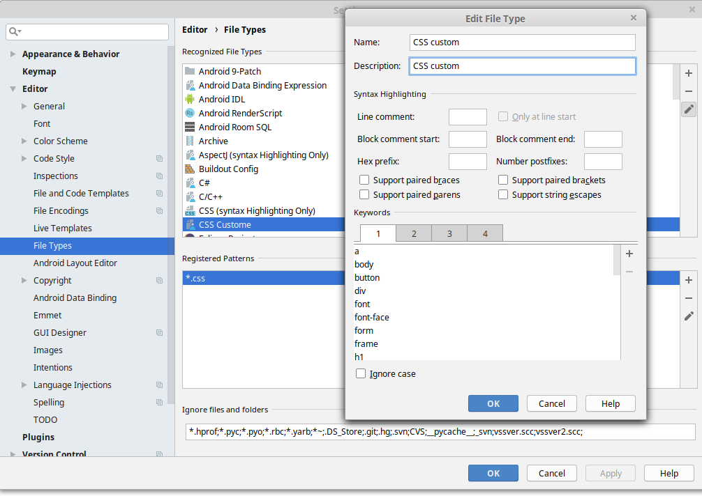 IntelliJ community edition add CSS and JSP syntax highlighting