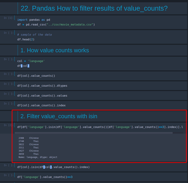 Pandas: How to filter results of value_counts?