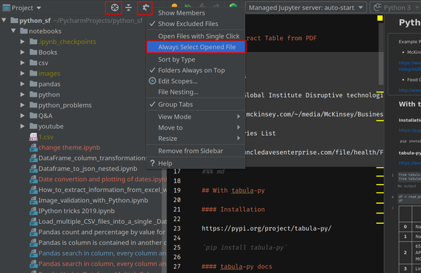 PyCharm/IntelliJ: Locate current open file in Project view